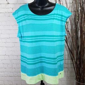 Toad & Co Striped Shirt Sz L